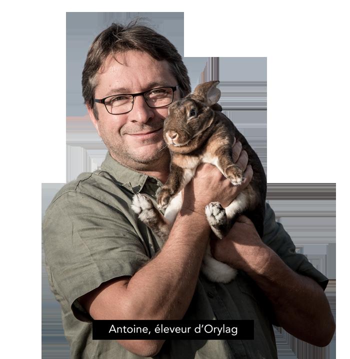 Antoine, éleveur d'Orylag