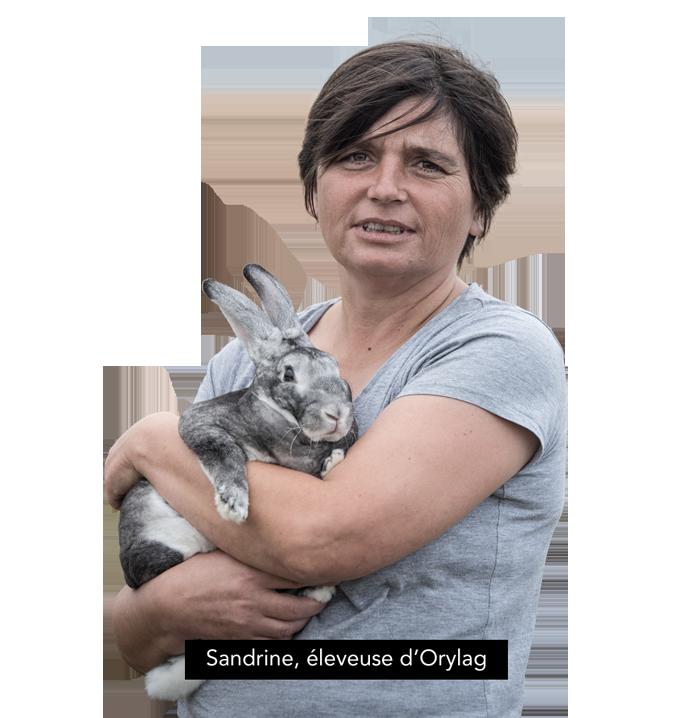 Sandrine, éleveuse d'Orylag
